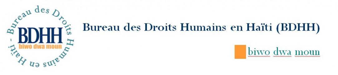 Bureau des Droits Humains en Haïti (BDHH) biwo dwa moun