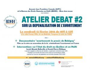 Atelier-débat sur la dépénalisation de l'avortement