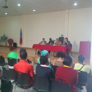 """Conférence internationale interdisciplinaire de recherche sur le genre, 28 avril 2016 Panel """"réformes législatives"""" sous la présidence de Mme Pierre Louis"""