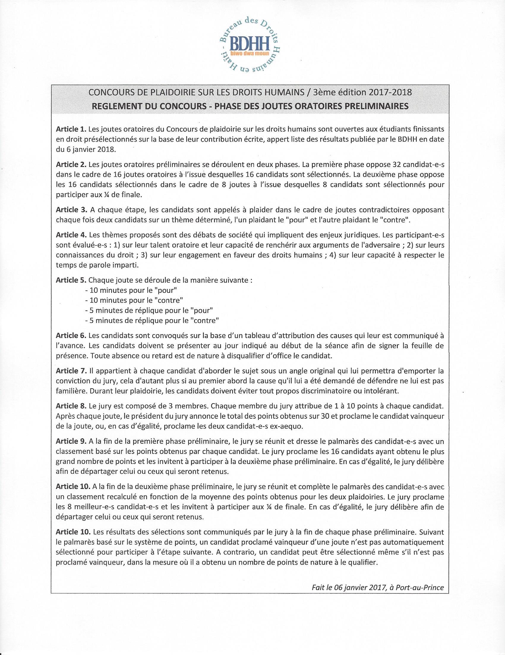 Bureau des droits humains en ha ti bdhh biwo dwa moun - Bureau des concours aphp ...