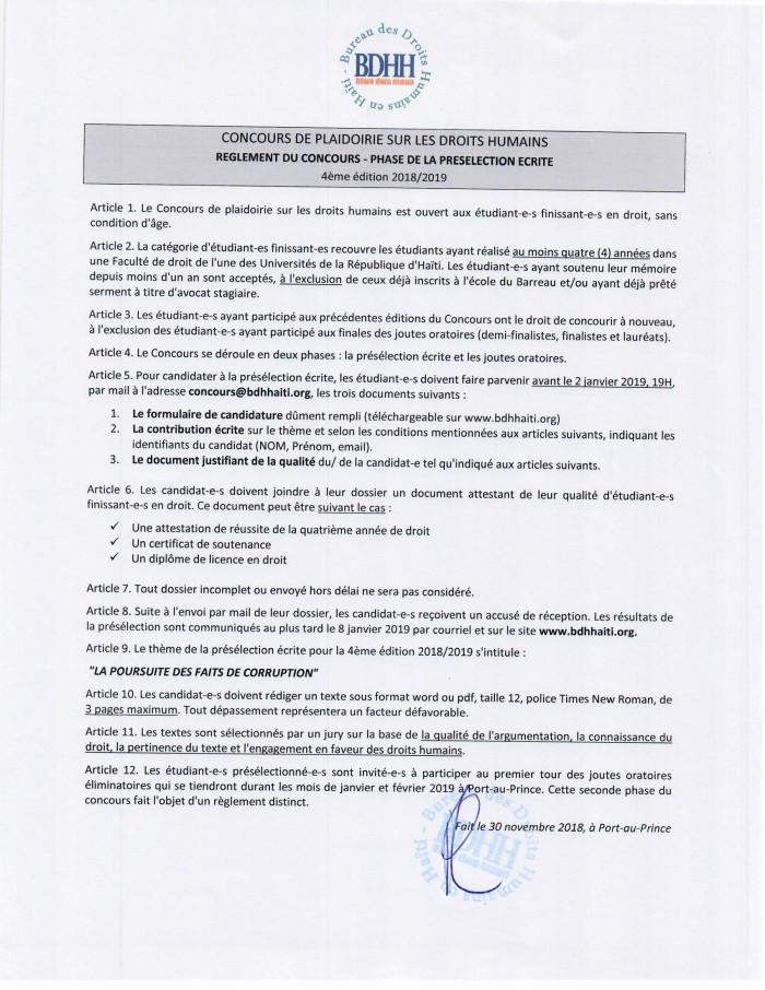 BDHH_Concours_Règlement